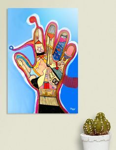 Discover «Handy mano», Limited Edition Acrylic Glass Print by Cora de Lang - From 95€ - Curioos