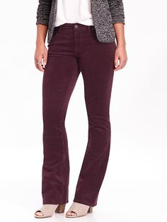 """I realized I no longer have any corduroy in my closet. I love these curvy cut cords, but might be willing to try a skinny pair that seems so popular at the moment. I love some of colors I have seen including this """"burgundy"""" color. I would also like some other cords in my closet as well, blazers, vests, and skirts."""