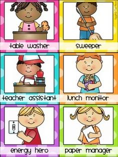 Classroom Jobs Clip Chart {Polka Dot Classroom Decor Theme}