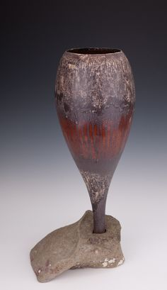 Chalice mounted in rock by Mary Fox,