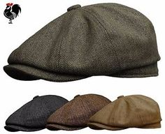 40010f592bf ROOSTER-WOOL-TWEED-HERRINGBONE-NEWSBOY-GATSBY-CAP-GOLF-