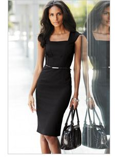 Office outfits women, dresses for work, designer work dresses, work clothes Office Dresses For Women, Office Outfits Women, Dresses For Work, Work Outfits, Work Attire Women, Pretty Outfits, Little Black Dress Outfit, Black Dress Outfits, Dress Black