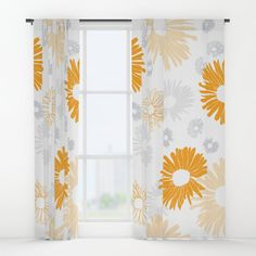 """Your drapes don't have to be so drab. Our awesome Window Curtains transform a neglected essential into an awesome statement piece. Featuring a single-sided print with a reverse white side.     - Dimensions: 50"""" (W) x 84"""" (H)   - Available in single or double panel options   - Crafted with 100% lightweight polyester, blocks out some light   - 4"""" hanging pocket for easy hanging on any rod   - Single side print on front with reverse white side   - M... Window Curtains, Custom Design, Pocket, Blanket, Pillows, Awesome, Easy, Fabric, Flowers"""