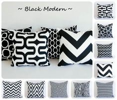 Black pillow cover 20 x 20 One cushion cover by ThePillowPeople  ****I like the DIVA AND ZIPPY***