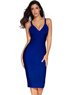 Meilun Women's Rayon Strap Mid-calf Length Bandage Party Dress >>> Discover this special product, click the image : cocktail dresses Modest Bridesmaid Dresses, Maxi Dress Wedding, Prom Dresses, Womens Cocktail Dresses, Party Dresses For Women, Colorful Outfits, Off Shoulder Evening Dress, Sexy Party Dress, Celebrity Dresses