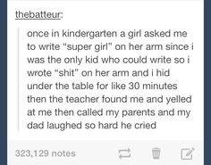 Kindergarten | tumblr funny