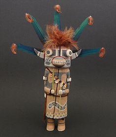 Blue Bear Kachina Doll by Ryon Polequaptewa (Hopi) - Kachina Dolls / Traditional Dolls