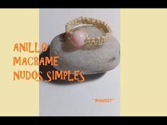 Anillo macrame nudo simple modelo 1/ tutorial - YouTube