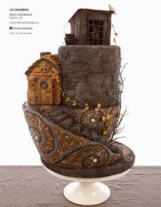 These cobblestones...Hansel & Gretel Fairytale Cake 2 | Cake Central Magazine | Volume 4 Issue 10 - October 2013