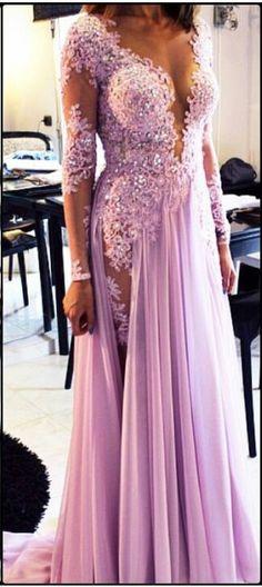 Jean Pierre Tohme lavender purple lace mesh gown