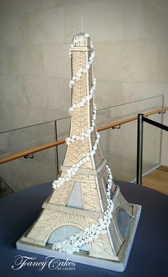 Little girl jumping up and down saying mom that is my wedding cake when I grow up!     Eiffel Tower Wedding Cake
