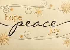 Peace, Hope And Joy by Sussex Printing Corp. http://theguide.holidaycardwebsite.com #christmas #christmas cards