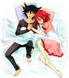 YUSEI X AKIZA SLEEPING TOGTHER by naurto1234.deviantart.com on @deviantART