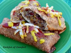 Forkful of Comfort: Bacon Cheeseburger Egg Rolls