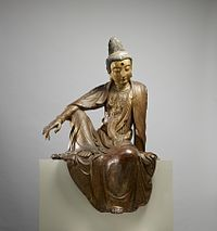 This late Ming dynasty dry-lacquer sculpture is an image of the bodhisattva Guanyin, an enlightened being venerated in Chinese Buddhism as an embodiment of. Chinese Buddhism, Buddha Buddhism, Chakra, Buddhist Teachings, Buddhist Meditation, Interview, Les Themes, Guanyin, Museum Collection