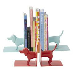 Dachshund Metal Book Ends by rice.dk