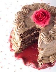 Cream cheese, chocolate  nutella cake