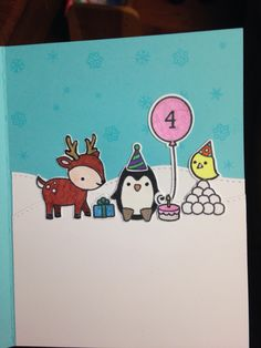 Lawn fawn birthday card- inside