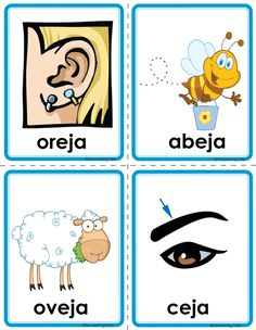 Picture Pre K Activities, Spanish Activities, Alphabet Activities, Learning Websites For Kids, Baby Learning, Preschool Spanish, Teaching Spanish, Spanish Pictures, Abc Worksheets