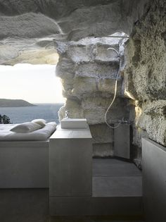 The Cave House - This stone house is probably one of the coolest modern homes we've come across. This holiday house is ideally located in Spain and designed by Spanish architect Anton Garcia-Abril of Ensamble Studio