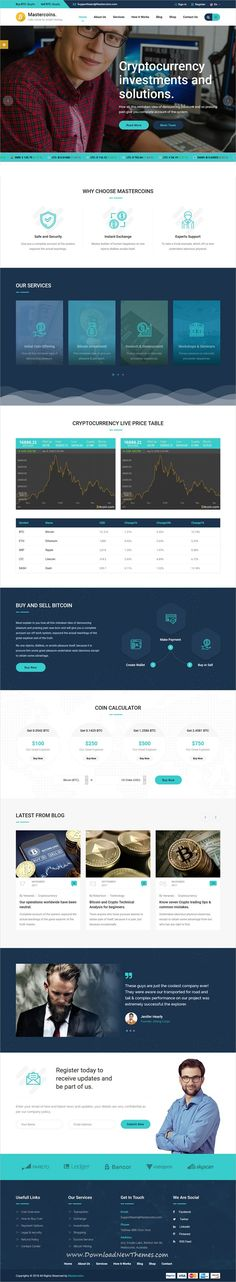 Master Coins is clean and modern design responsive #HTML bootstrap template for #bitcoin and #cryptocurrency #mining and trading #website to live preview & download click on image or Visit