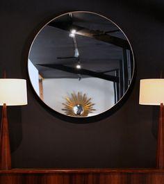 Brass Clad Round Mirror – Blackman Cruz