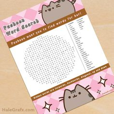 Free printable Green Eggs & Ham word search for Dr. Seuss day, school activity or party favor. Find Green Eggs & Ham themed words in this printable. Birthday Party Games For Kids, 9th Birthday Parties, Birthday Favors, Birthday Invitations, Birthday Ideas, Pusheen Birthday, Cat Birthday, Kitten Party, Cat Party