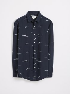 fe34327f Button-down collar. Button closure at front. Single-button rounded cuffs  with pointed plackets.