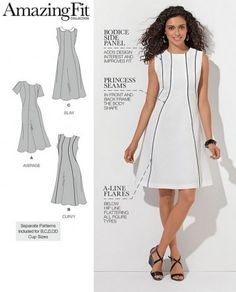 Simplicity - 1458  patroon Jurk 'Amazing fit'