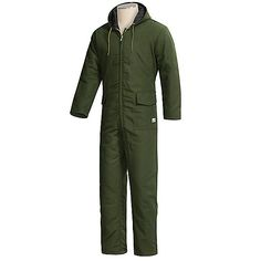 Work King Quilted Duck Coveralls with Hood (For Men) - Save 76%