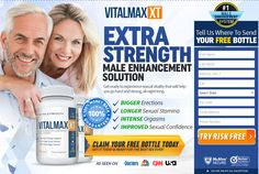 Vitalmax xt is theBest male enhancement supplementThat consist of natural ingredients and it works wonder by improving the male sexual health.It increases the