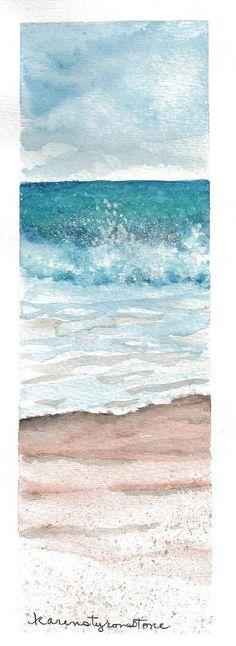 Print of Original Watercolor 'Water's Edge'    http://picturesfunnys.blogspot.com/