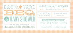 BBQ & Baby Shower   Vistaprint