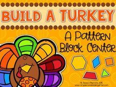 Practice number sense and geometry skills!Are you looking for a fun low prep Thanksgiving math center? This Build A Turkey Pattern Block Center is great for practicing symmetry, shape id and counting and is really easy to make! Print the turkeys and have students use pattern blocks to create the feathers.This pack includes:       Activity Directions      Turkey Body Cut Outs      Students Response Sheet***************************************************************************** Find More…
