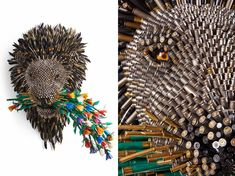 bullet shells sculptures. we are at peace. federico uribe