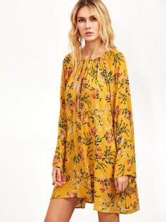 Kleid gelb blumen