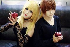 Light and misa cosplay