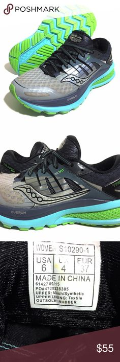 """Saucony Triumph ISO 2 Shoes Womens Grey Blue Slime The Saucony Triumph ISO 2 """"Winner of Runner's World Editors Choice""""  $55 MSRP: $150 