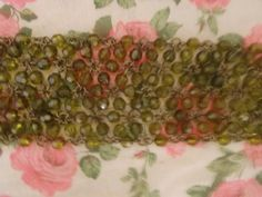 Darling Vintage Rustic-Greens 'Sparkly' Beaded by TheAtticofKitsch