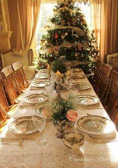 Elegant family dinner setting