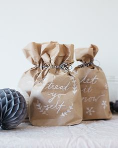 DIY Brush Lettered Gift Bags with @We Make Collective