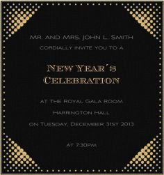 new years eve a night in new york black celebration high format invitation card