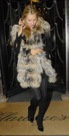 Kate Moss / Multicolored Fur / Louboutin Pigalle