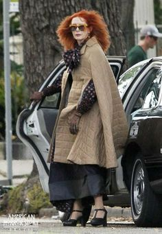 American Horror Story Salem | American Horror Story: Coven set – Taissa Farmiga and Frances Conroy          --Love Her !!!!!!!!!