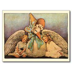 De vintage Kinderen Jessie Willcox Smith van de Ga Wenskaarten