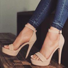 hochzeitsschuhe Trendy High Heels For Ladies : Pastel nude wears Lace Up Heels, Pumps Heels, Stiletto Heels, Nude High Heels, Beige High Heels, High Heels Stilettos, Jeans Heels, Floral Heels, Gold Heels