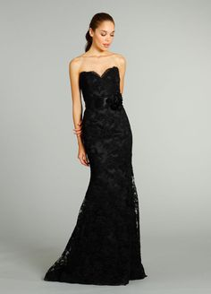 Black Lace by Jim Hjelm ~ Colored Wedding Dresses In Fall 2013 Collections (PHOTOS)