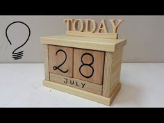 (41) How to Make a Wooden Calendar - YouTube