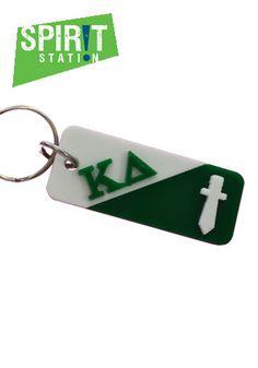 Kappa Delta Split Symbol Keychain