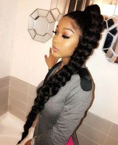 Gorgeous high ponytail hairstyles for black women New ones of course . - Gorgeous high ponytail hairstyles for black women New natural hairstyles - High Ponytail Braid, Hair Ponytail Styles, Black Ponytail Hairstyles, Braided Hairstyles For Black Women, High Ponytails, Wig Hairstyles, Curly Hair Styles, Natural Hair Styles, Hairdos